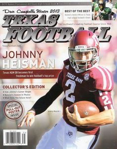 """Dave Campbell's Texas Football's 2013 Winter Edition cover featuring Texas A&M's Johnny """"Heisman"""" Manziel"""