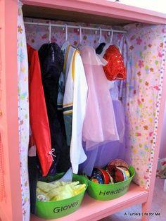 DIY dress-up closet made from an old dresser!