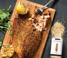 Make it a perfectly balanced plate & serve with:½ cup cooked grains, 2 cups mixed greens, and 1 tbsp Epicure salad dressing. 5 Ingredient Dinners, 5 Ingredient Recipes, Epicure Recipes, Baked Salmon Recipes, Shellfish Recipes, Seafood Recipes, Seafood Dishes, Canada Celebrations, Food Test