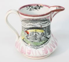 Lot: Staffordshire Lustre Pitcher, Iron Bridge, Lot Number: 0174, Starting Bid: $100, Auctioneer: Wooten & Wooten Auctioneers, Auction: Fall Americana: Day One, Date: November 14th, 2015 EST