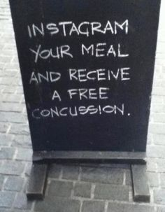 Dont photograph your meal on http://www.drlima.net