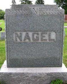 NAGEL, HEADSTONE - Lyon County, Iowa | HEADSTONE NAGEL