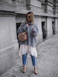 layering look with Valentino Ruckstud heels #mbfwb - Aylin KönigAylin König