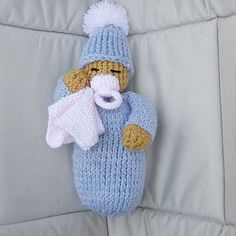 hand knitted baby doll - In Stitches. a beautiful hand knitted baby doll in choice of 3 colours, she hand knitted baby doll - In Stitches. a beautiful hand knitted baby doll in choice of 3 colours, she Knitted Doll Patterns, Loom Knitting Patterns, Knitting Projects, Hand Knitting, Knitted Dolls Free, Crochet Patterns, Crochet Bear, Crochet Birds, Crochet Food