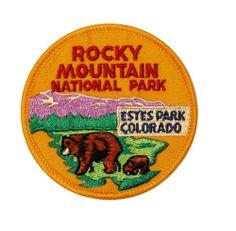 Rocky Mountain National Estes Park Bear Colorado Souvenir Badge Applique Patch