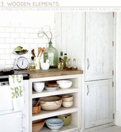 (via Bright.Bazaar: Three Ways: Rustic Kitchens)