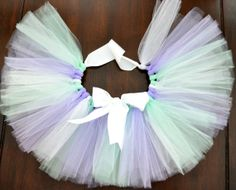 READY TO SHIP Mint White and Lavender Newborn Photo Prop by 1583Designs infant portraits satin open waist tutu