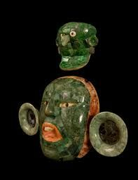Masque de jade Maya, Pinacothèque