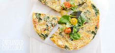 Roast potato, sweet potato and salmon frittata - One Handed Cooks