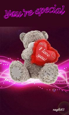 Honey I love you Love Heart Images, I Love You Images, Love You Gif, I Love You Baby, Love You More, Love Pictures, Tatty Teddy, Teddy Bear Pictures, Teddy Images