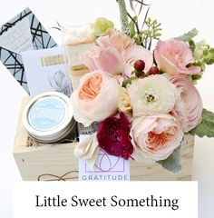 Little Sweet Something gift box with flowers LA only $75