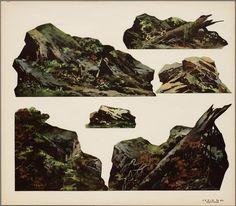 Papieren theater in kleur voorstellende 6 zetstukken met rotsenhttp://www.geheugenvannederland.nl