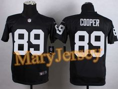 """$23.88 per one, welcome email """"MaryJersey"""" at maryjerseyelway@gmail.com 2015 NFL Draft Nike Raiders 89 Amari Cooper Black Team Color Youth Stitched Elite Jersey"""