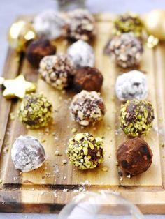 Hazelnut and Pistachio Chocolate Truffles
