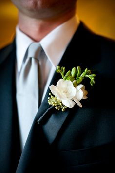 White-and-Green-Boutonniere www.MadamPaloozaEmporium.com www.facebook.com/MadamPalooza