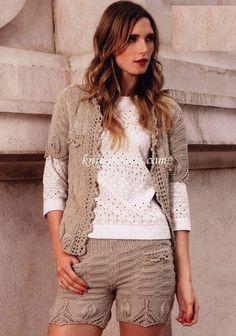Женский комплект: жакет и шорты