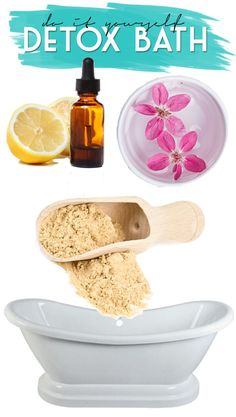 DIY Detox Bath! Relax & soothe aching muscles at home! #DIY