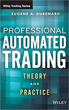 Proprietary Trading, Control Theory, Financial Accounting, Short Term Loans, Computer Programming, Trading Strategies, Book Club Books, Stock Market, Finance