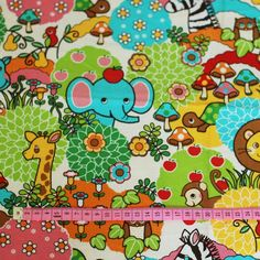 Cosmo textile childrens fabric - 1/2 yard