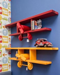 DIY Biplane Wall Shelf – DIY projects for everyone! Woodworking Toys, Woodworking Projects Diy, Diy Wood Projects, Wood Crafts, Diy Regal, Kids Room Design, Wooden Decor, Wood Toys, Kids Furniture