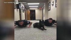 The Gulf Shores Police Department in Alabama put their newest K-9 to the test - a push-up test that is.