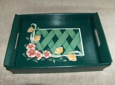 Wooden Tray with Lattice