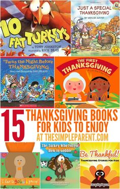Check out these great Thanksgiving books for kids to help your family celebrate!