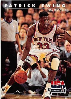Basketball Cards, Nba Basketball, Nba Jam, Patrick Ewing, Dream Team, Gymnastics, Olympics, Athlete, Baseball