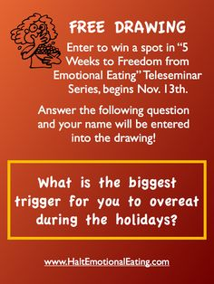 FREE DRAWING, Freedom from Emotional Eating Teleseminar