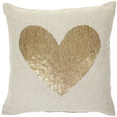 Day Birger Et Mikkelsen Christmas Heart Cushion Cover - Natural -... (£21) ❤ liked on Polyvore featuring home, home decor, pillows, fillers, furniture, decor, day birger et mikkelsen, heart home decor and christmas home decor