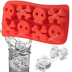 Skull Shaped Ice Cube Maker Tray Ice Mode for Party Novelty Life - Color Assotred HLI-81116