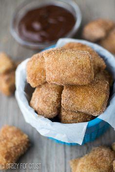 Easy Cinnamon Sugar Soft Pretzel Bites | crazyforcrust.com