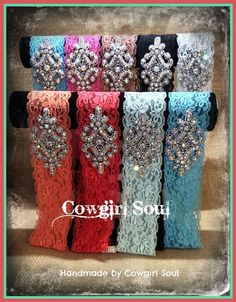Blingy Gypsy Lace Headband $20.00 http://www.cowgirlsoul.net/catalog.php?item=1429