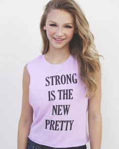 """Clothes ~ Tops ~ Autie's """"Strong is the new pretty"""" T-Shirt"""