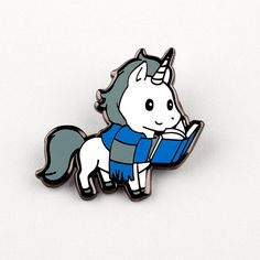 Smart Unicorn Pin | TeeTurtle