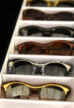 What a great sunglasses organizer for the closet.