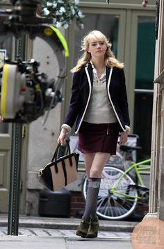 Sexy New Photos of Emma Stone On The Amazing Spider-Man 2 Set on http://www.shockya.com/news