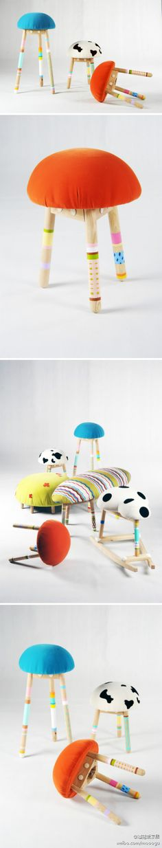 i want one that looks like a mushroom. like the red ones with white dots? it would look cute in my dream room. :3