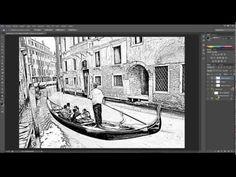 Tutorial photoshop. Fotografías a dibujo. - YouTube