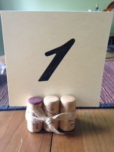 Wine Cork Table Number Holders $26