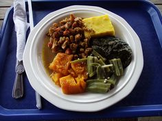 In the US and the Caribbean, creole refers to a mixture of cultures. At Grenada's Creole Shack buffet chain, you can choose stewed chicken/meat, fungi, okra, callaloo cooked in coconut milk, West Indian pumpkin, and whatever else you want since everything is a la carte and DELICIOUS! Plus they often have nutmeg ice cream!