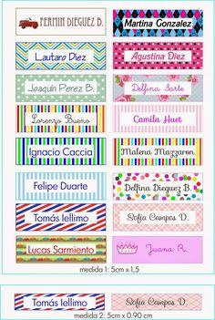 Los Cuadritos Deco y algo mas ...: Etiquetas para los utiles escolares