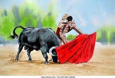 Resultado de imagen para pinturas de toreros y toros