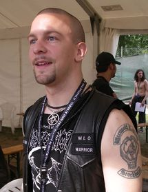 Jon Nödtveidt (28 Jun 1975 – 13 Aug 2006) was the lead guitarist and vocalist of Swedish black metal band Dissection. He also performed in The Black, De Infernali, Nifelheim,Ophthalamia, Satanized, Siren's Yell, and Terror, a grindcore band that featured members of At the Gates. He was a member of the Misanthropic Luciferian Order, now known as Temple of the Black Light, At 31, he shot himself dead, inside a circle of lit candles, in his Hässelby apartment.