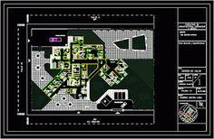 Génie civil et Travaux Publics Engineering Plan bloc autocad dwg: Centre de santé dwg