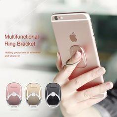 Baseus Universal Phone Ring Holder Stand 360 Degree Luxury Mobile Phone Finger Ring Holder For iPhone 7 6 Samsung Tablet