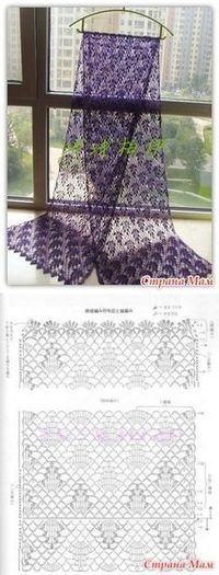 Creative Contents about DIY & Crafts, Knitting, Hairstyles, Beauty and more - Post Stole Vine Grozdya Nezhny Stole Crochet 400961173063242333 Pi. Crochet Shawls And Wraps, Crochet Scarves, Crochet Clothes, Crochet Diy, Crochet Motif, Crochet Ideas, Crochet Stitches Patterns, Crochet Designs, Tricot D'art