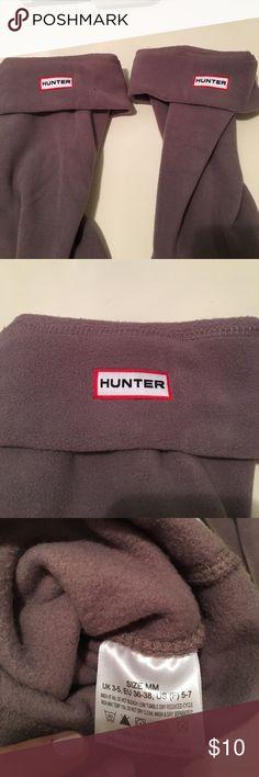Hunter boot socks Grey hunter boot socks. Never worn Hunter Boots Accessories Hosiery & Socks