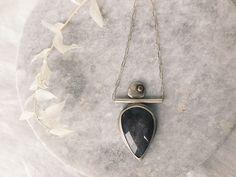 This Sheen Obsidian necklace feels like a statement all its own. Arrow Necklace, Feels, Enamel, Modern, Accessories, Jewelry, Design, Vitreous Enamel, Trendy Tree