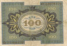 WWII-era German 100 mark note. I have a couple of these.